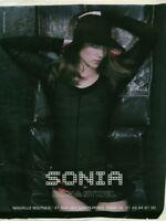 Publicité contemporaine mode Sonia Rykiel 2003 issue de magazine