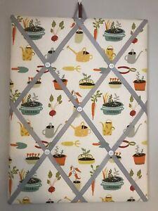 Hand Made Fabric Notice Board In Prestigious Gardening Fabric