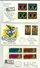 St. Lucia 3 FDC 2 are registered 1967-70 sent to Antigua, scarce used and scarce