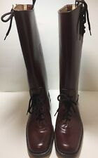 CUSTOM HAND MADE BROWN LEATHER MOTORCYCLE RIDING BOOTS MEN'S