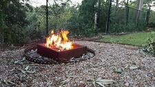 RUSTIC FIREPIT Corten Steel Outdoor Open Fireplace Heater Bowl