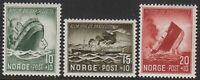 Stamp Norway Sc B35-7 1944 WWII Wartime Relief Ship Quisling War Germany MNH