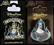 Disney Parks 2 Pin Lot HADES + Devilishly Handsome - Hercules Villain