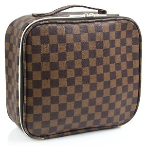 Luxouria Travel Checkered Makeup Bags Cosmetic Bags