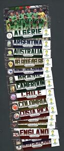 2014 Panini Prizm World Cup Soccer Team Photos Set of (32) USA Brazil Germany