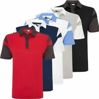 CALLAWAY GOLF OPRI-DRI ATHLETIC CHEV BLOCKED PERFORMANCE MENS GOLF POLO SHIRT