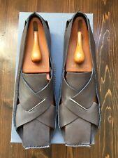 Iconic Designer Miu Miu by Prada Men's Big X Grey Leather Sandals Shoes UK11