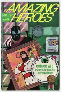 Amazing Heroes #131 NM- 9.2 white pages  1st McFarlane Venom Preview  1988