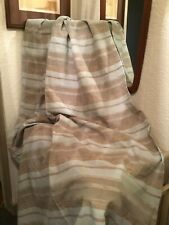 Vintage 1980s Blue Brown Stripped Curtains-RAF ISSUE #5994