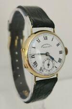 Vintage 1930s Eberhard & Co 14ct Solid Gold Chaux De Fonds Wristwatch Watch