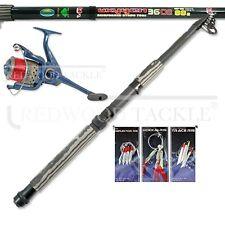 12ft Carbon Telescopic Mackerel/Predator/Sea Spinning Fishing Starter/Travel Kit