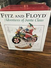 Fitz and Floyd Motorcycle Adventures of Santa Claus Jingle Bells Music Box