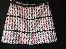 BNWT . River Island Women's Winter Mini Skirt Pink mix size 14 RRP £35.00