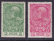 Österreich 1914 ANK.Nr.: 178-79 pf**siehe Bild >