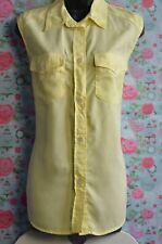 Lecomte UK Size XL Ladies Lovely Yellow Sleeveless Casual Shirt