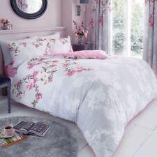 Roseanne Floral Set Housse de couette double Parure de lit réversible gris