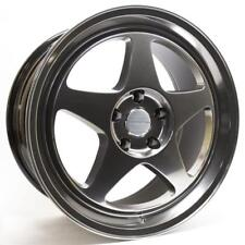 18x8.5 +35 Varrstoen MK0 5x114.3 HYPER BLACK Wheels FITS CIVIC WRX RSX TSX IS250