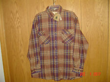 NWT Men's NORTHWEST TERRITORY Brawny Flannel Plaid Long Sleeve Shirt Large P318