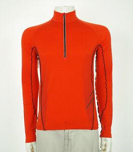 Icebreaker GT Orange Merino Wool Blend Pullover Shirt Mens Small