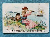 Use Chadwick's Spool Cotton Vintage Advertising Postcard Flyer