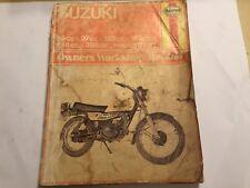 SUZUKI TC90 TS90 TC100 TC125 TS125 TC185 TS185 TS250 & TS400 HAYNES MANUAL 71-79