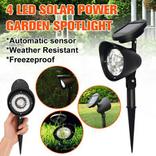 1/2/4Pcs Solar Spot Light Outdoor Garden Lawn Landscape LED Spotlight Path   SU