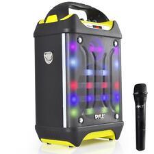 NEW Pyle PWMA275BT Bluetooth Karaoke Speaker System Wireless Mic  MP3/USB/SD/FM