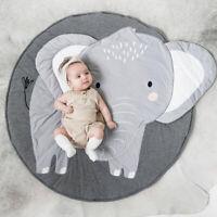 KQ_ Cartoon Elephant Pattern Baby Play Mat Pad Crawling Blanket Carpet Rug
