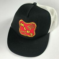 MLRS Snapback Hat VTG Foam Front Missile Launcher Black Red Yellow White Cap