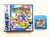 Super Mario Land 2 DX Game / Case COLOR Remastered Nintendo Game Boy GBC Deluxe