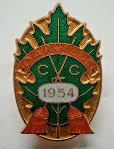 Rare Curling Pin - 1954 Oakville Ontario Curling Club