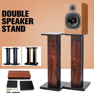 2x Universal Floorstands / Speaker Stands Surround Sound Book Shelf 60cm UK