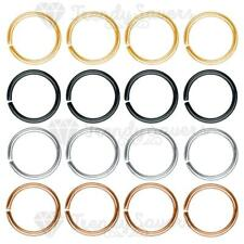 Small Thin Eyebrow Nose Ear Sterling Silver Stud Hoop Piercing Ring 6mm-10mm