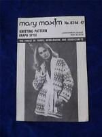 MARY MAXIM KNITTING PATTERN GRAPH STYLE LADIES WRAP JACKET NO. 8346-47 VINTAGE