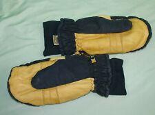 Nice Vintage Goretex Mittens Leather Blue Mens Xl Ski Snowmobile Gloves Gore-tex