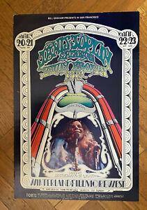 Janis Joplin Poster ORIGINAL FIRST Printing Bill Graham BG 165 1969 Randy Tuten