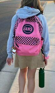 Vans Realm Taper Off Azalea Pink Backpack $42