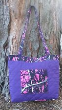 Muddy Girl Pink Puprle Moonshine Camo Quilted Purse Handbag Tote (Made In USA)