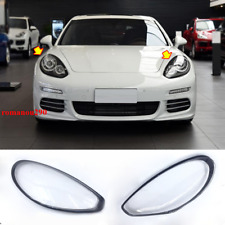 For Porsche Panamera 2014-2016 Left & Right Headlight Headlamp Lens Cover 2pcs