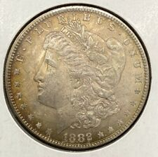 1882 Morgan Silver Dollar With Gold Toning