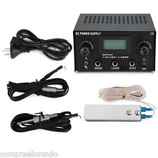Tattoo Power Supply Digital LCD Dual Machine Foot Pedal Switch 2 Clip Cords CN