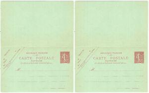 Entier postal carte-postale 10c Semeuse Lignée neuve Storch SlA5 & Y&T 129-CPRP1
