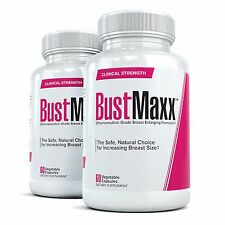 2x BUSTMAXX Breast  Enhancement Pills 60 Capsules Per Bottle