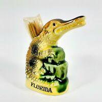 Vintage Florida ALLIGATOR Toothpick Holder Japan