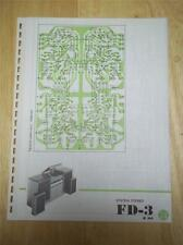 Pioneer Schematic Diagram for Service of the FD-3  Stereo System~manual