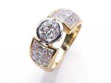 Echte Diamanten-Ringe aus mehrfarbigem Gold mit Prinzess