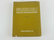 Suzuki bikes all 1979 models factory service specifications