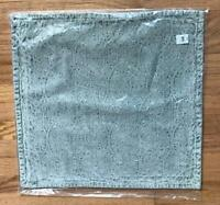 Pottery Barn Chenille Jacquard Pillow Cover 20x20 sq Light Blue