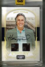 "2008 DONRUSS CELEBRITY CUTS - AUTO/MATERIALS - HENRY WINKLER ""THE FONZ"" 5/5"