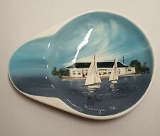 Vintage Studio Anna Pottery Meningie South Australia Souvenir Dish c1953-56